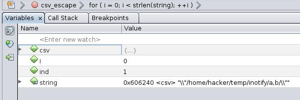 string = csv