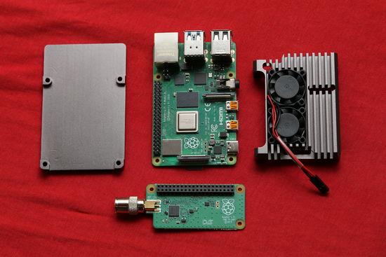 Raspberry Pi 4 + DVB-T2 HAT + chladič