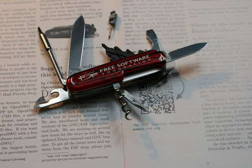 FSF knife and cybertool (Victorinox/Swiss Army Cybertool 29)