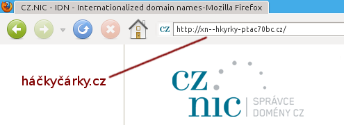 IDN – Internationalized Domain Names – háčkyčárky.cz